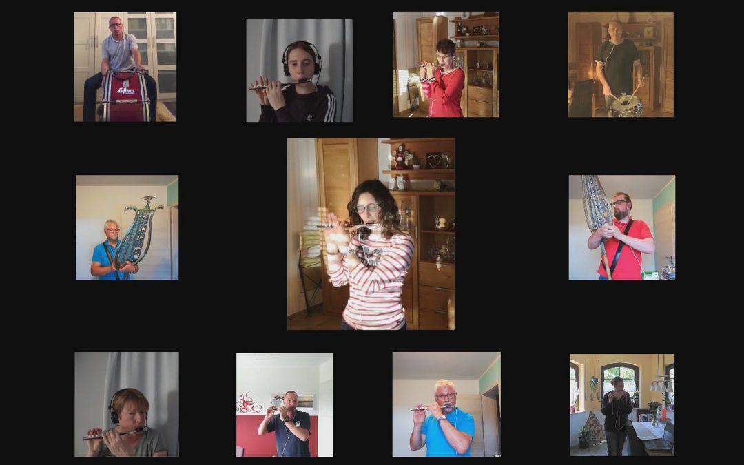 Das Brohltallied im Video: Tambourclub stellt auf Homeoffice